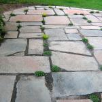Stone patio installed in Decatur's Clairmont Heights neighborhood
