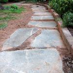 Walkway installed with large stone pavers in Decatur's Clairmont Heights